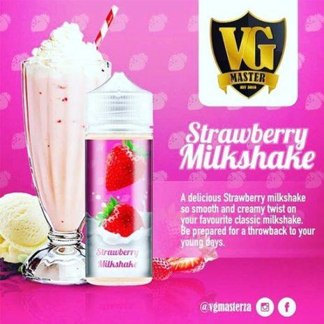 VG Masters Straw Berry Milkshake 120ml 2mg