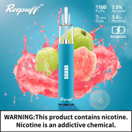 ReePuff Glow Disposable 30mg 1500puff Guava